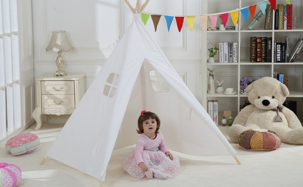 Why you need a kids tent & Amazon.com: Dream House Indoor Outdoor White Teepee Play Reading ...