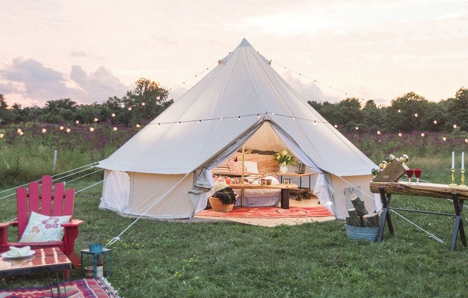 Dream house heavy duty glamping tent safari for Tent a house