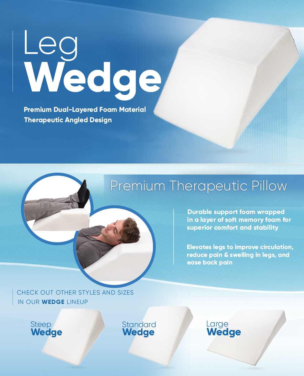 Bed wedge for legs - Our Wedge Pillows Are Made With High Quality Memory Foam That Shapes To Your Body And Provides Support While You Sleep Open Cell Structure Helps Promote