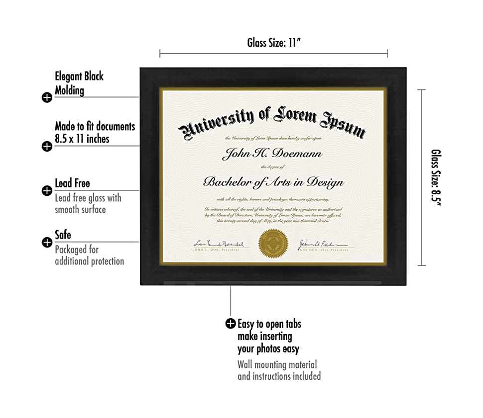 document frame made to display certificates inch document frames. Black Bedroom Furniture Sets. Home Design Ideas