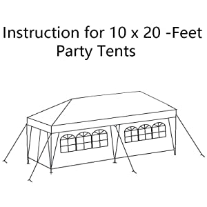 Domain 10x20 carport canopy instructions