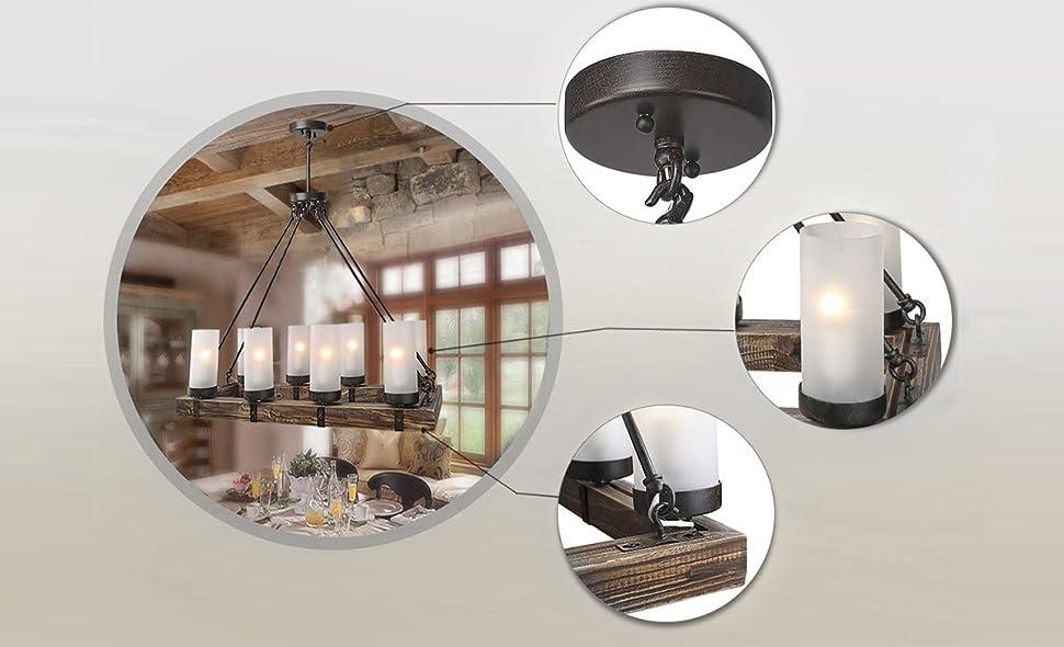 Lnc wood chandeliers kitchen island chandelier lighting 8 light model a02988 aloadofball Choice Image