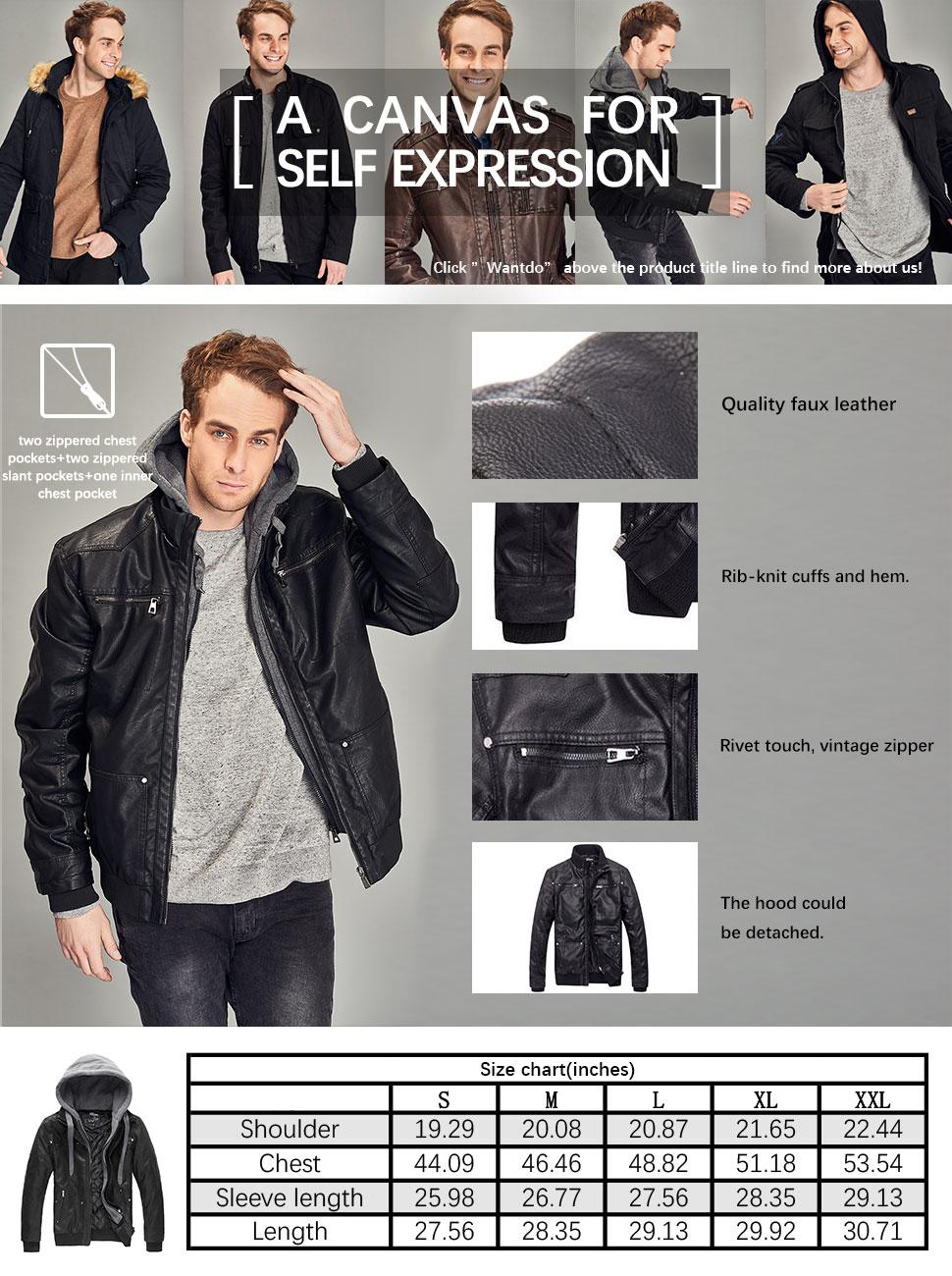 Leather jacket size 18 - Product Description