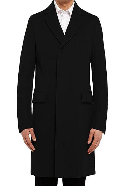 Benibos Mens Trench Coat Autumn Winter Long Jacket Overcoat at ...