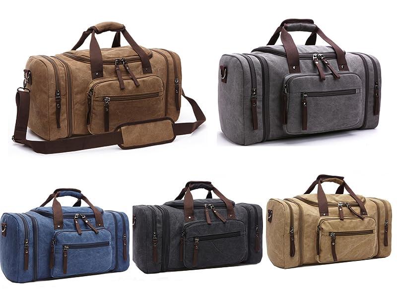 Amazon.com | Aidonger Unisex Canvas Travel Bag Duffel Bag Weekend ...