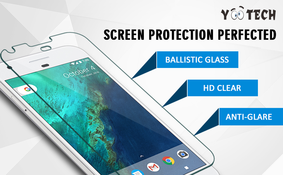 Yootech Google Pixel Tempered Glass Screen Protector for Google Pixel