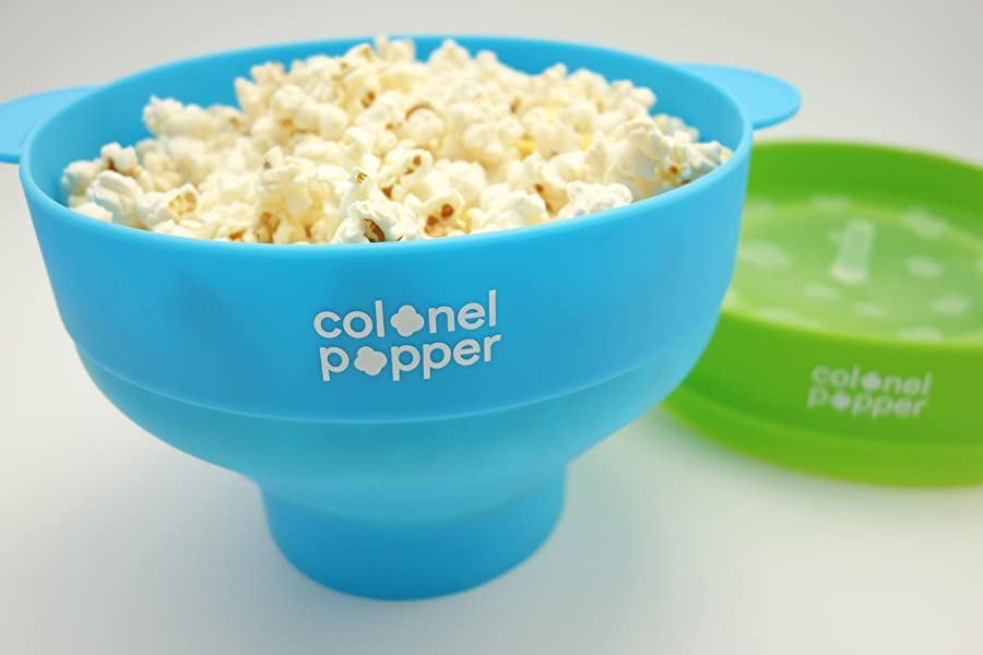 Image result for air popped popcorn blue bowl