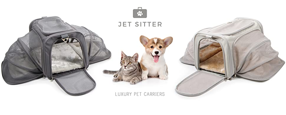 Amazon Com Jet Sitter Luxury Expandable Pet Carrier V2