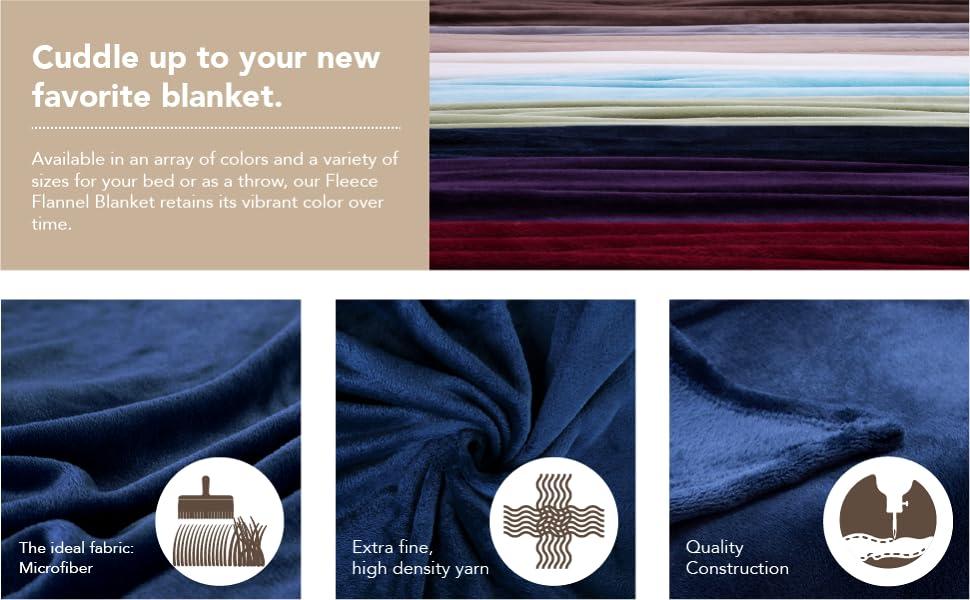 Amazon.Com: Flannel Fleece Blanket Grey Throw Lightweight Cozy