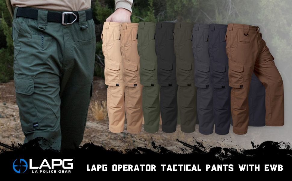 LA Police Gear Operator Tactical Pants With Elastic