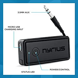 Amazon.com: Nyrius Songo Portable Wireless Bluetooth Music