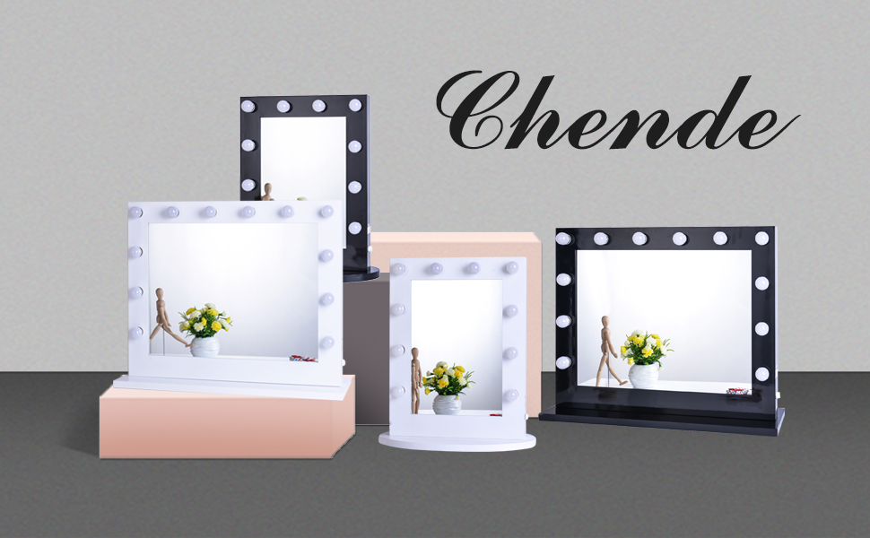 For women and girls  having such a make up mirror is their own dream. Amazon com  Chende Black Hollywood Makeup Vanity Mirror with Light
