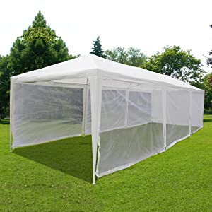 10u0027x30u0027 Outdoor Canopy Gazebo Party Wedding tent Screen House Sun Shade Shelter with Fully Enclosed Mesh Side Wall offer plenty of space for your outdoor ...  sc 1 st  Amazon.com & Amazon.com : Quictent 10X30 Outdoor Canopy Gazebo Party Wedding ...