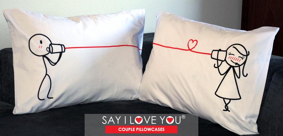 BoldLoft Say I Love You His and Hers Couple Pillowcases & Amazon.com: BOLDLOFT Say I Love You Couples Pillowcases-Romantic ... pillowsntoast.com