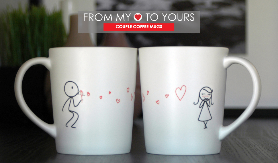 boldloft from my heart to yours his and hers coffee mugs