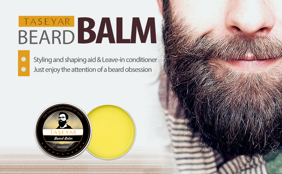 Amazon.com : Beard Balm 2oz, TASEYAR Strong Hold Natural