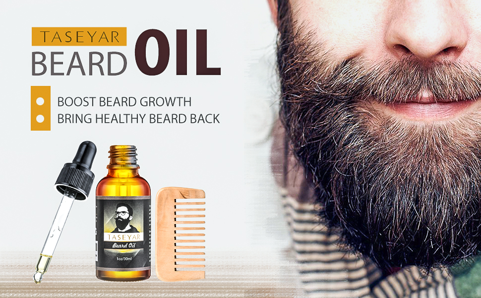 30ml beard oil with comb taseyar natural moustache growing oil beard shaping tools. Black Bedroom Furniture Sets. Home Design Ideas