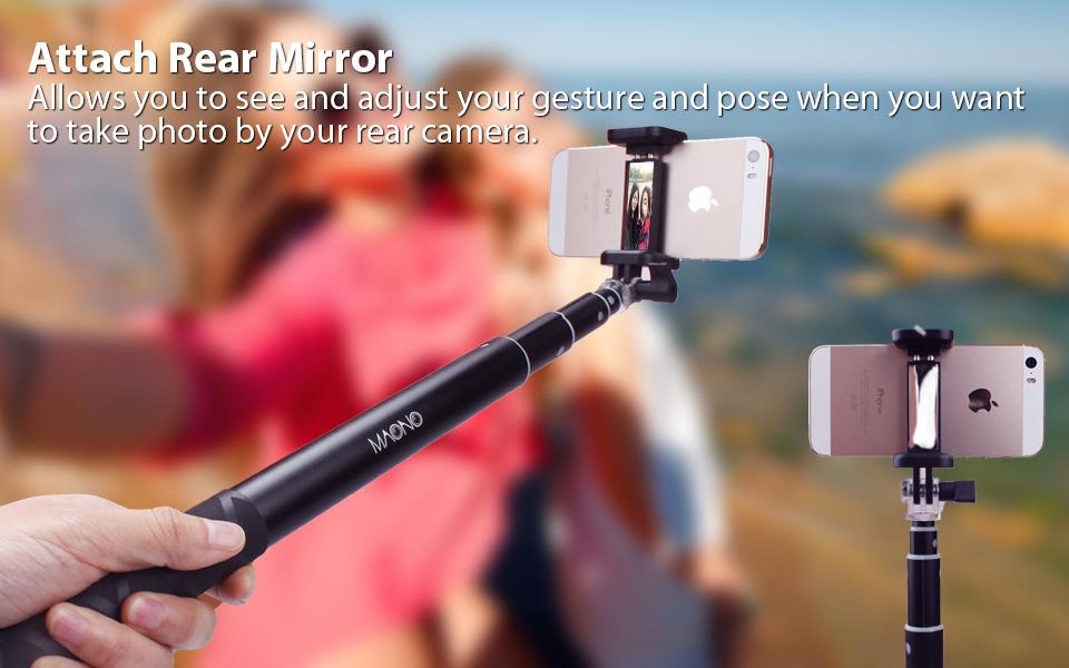 selfie stick maono bluetooth remote and tripod portable waterp. Black Bedroom Furniture Sets. Home Design Ideas