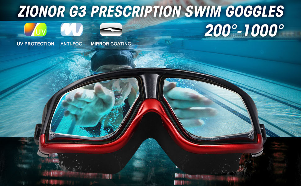 Amazon Com Rx Prescription Swim Goggles Zionor G3