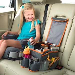 kids organizers with seat belt attachments on the back to keep the organizer stable while the car is in motion our kids car seat