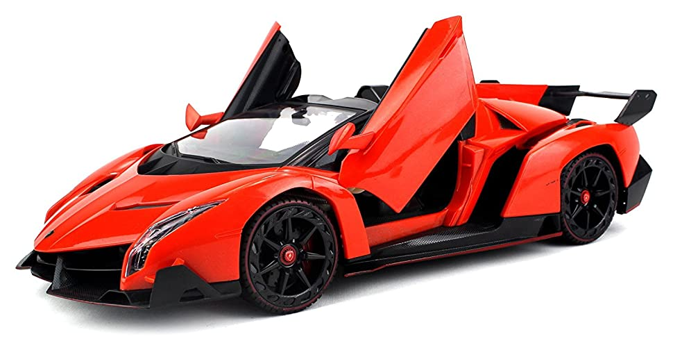 Amazon Com Licensed Lamborghini Veneno Roadster Supercar Remote Control Rc Car Big 1 14 Scale