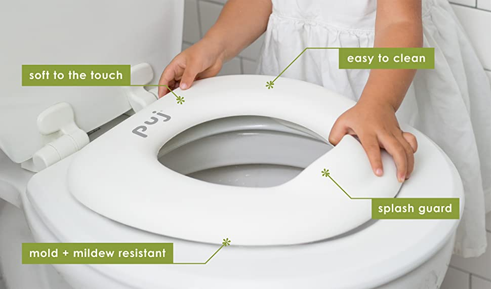 soft touch toilet seat. The Puj Easy Seat Toilet Trainer is So to Use  Kids Can Do It Themselves Amazon com Toddler Training Potty
