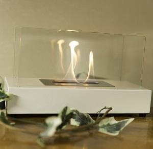 Amazon.com: Sunnydaze White El Fuego Ventless Tabletop Bio Ethanol ...
