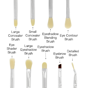 Qivange Makeup Brushes Synthetic Eyeshadow