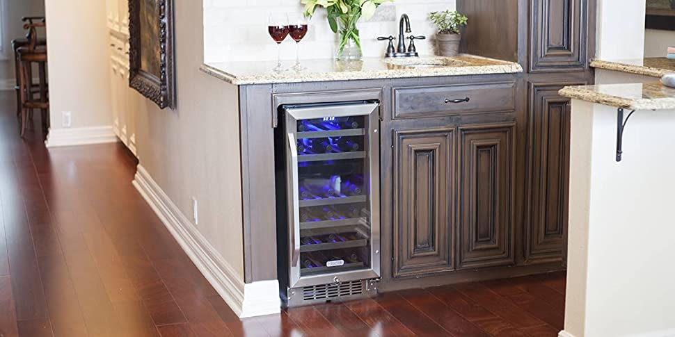 Amazon.com: EdgeStar Dual Zone Stainless Steel Built-In Wine ...