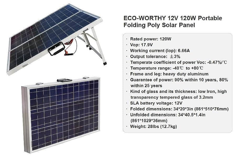 Amazon Com Eco Worthy 12 Volts 120 Watts Portable
