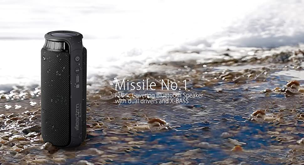 Amazon.com: Leadzm Missile No.1 Bluetooth Speakers, NFC Wireless IPX4
