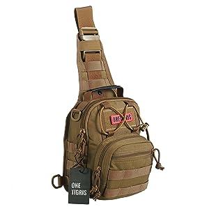 Amazon.com : OneTigris EDC SLING Tactical MOLLE Shoulder Bag ...