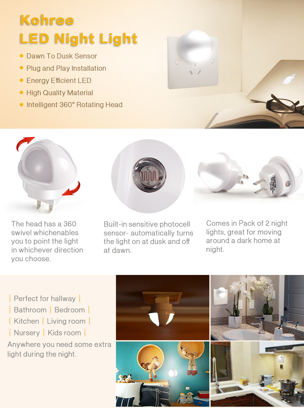 Night lights nursery - Let This Led Night Light Helps You Find Your Way At Night Say Good Bye To Bumping Into Stuff In The Dark With This Not Too Bright Not Too Dim Plug In
