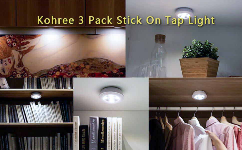 closet lighting battery. These Tap Lights With 5 Ultra-bright, Energy Efficient LEDs Act Like Little\ Closet Lighting Battery G