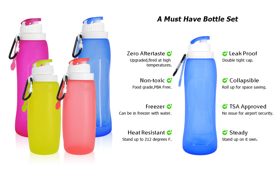 745e6e9e3d Bottle set has no strange smell; it is health to use for both hot and cold  water.