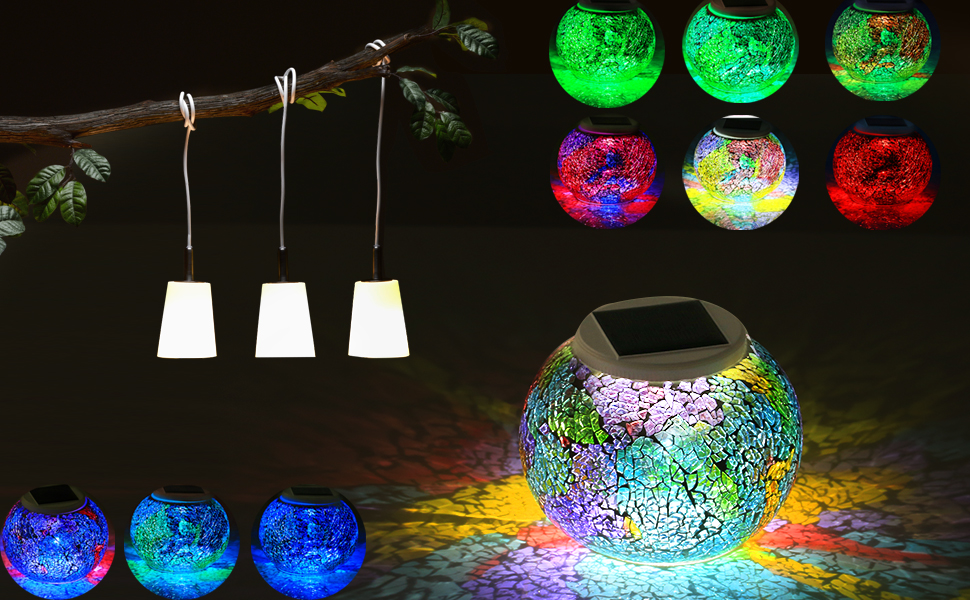 this mosaic glass table lamp can provide enjoyment at night gradually light creates fantastic and romantic atmosphere