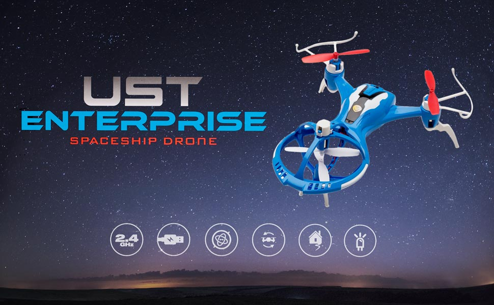 Low Visibility Environments Are Usually A No Go For Any Drone Enthusiast Unless They Flying The UST Enterprise UFO Spaceship