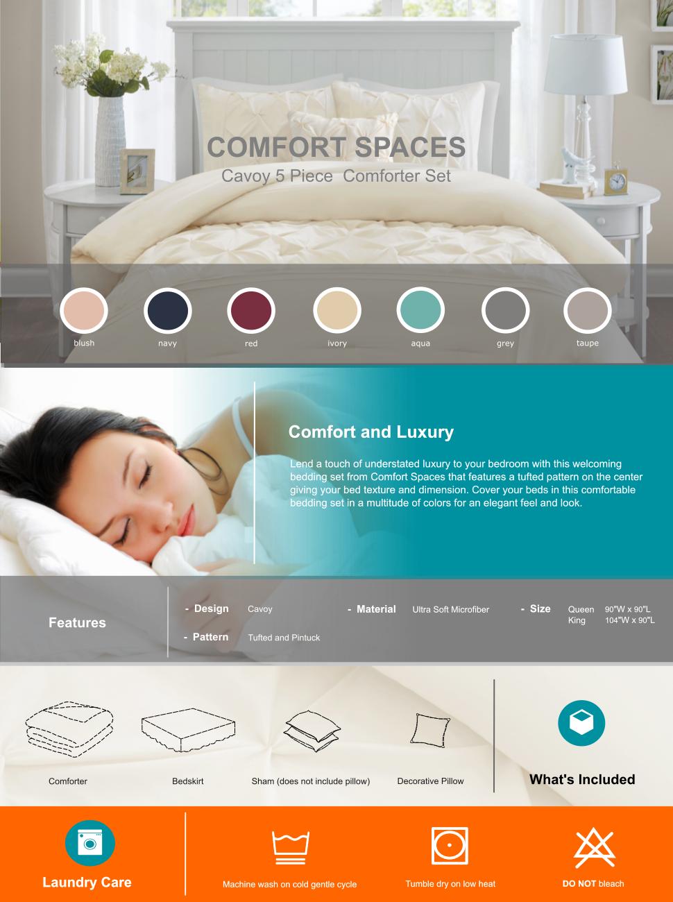 Comfort Spaces Cavoy Comforter Set 5 Piece