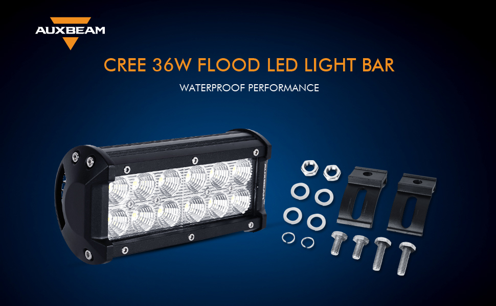 Number of chips 12pcs 3W high intensity CREE Led Lumen 3600lm. Operating Voltage 9 ~ 32V Beam Angle Flood beam (60 degree) Color Temperature 6000K  sc 1 st  Amazon.com & Amazon.com: Auxbeam 7