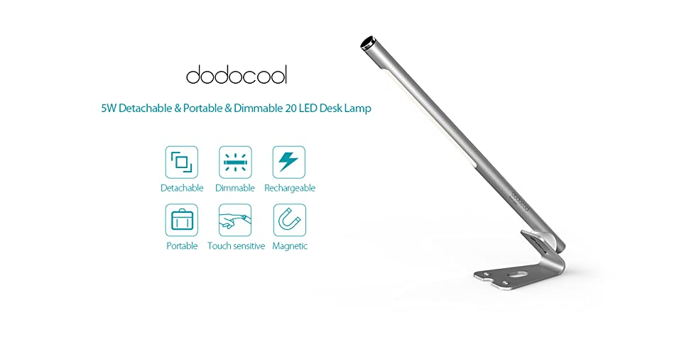 amazon com  dodocool led desk lamp 5w rechargeable