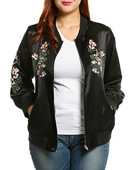 Meaneor Women's Plus Size Vintage Embroidered Floral Phenix Casual ...