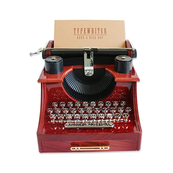 Alytimes vintage typewriter music box for home for Home decorations amazon