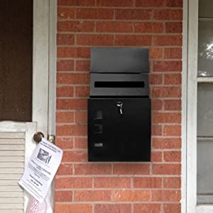 Wall Mount Mailbox Large Capacity 18 Quot Vertical Locking