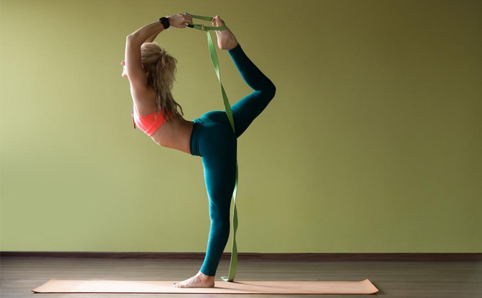 Amazon Com Reehut Fitness Exercise Yoga Strap 6ft 8ft