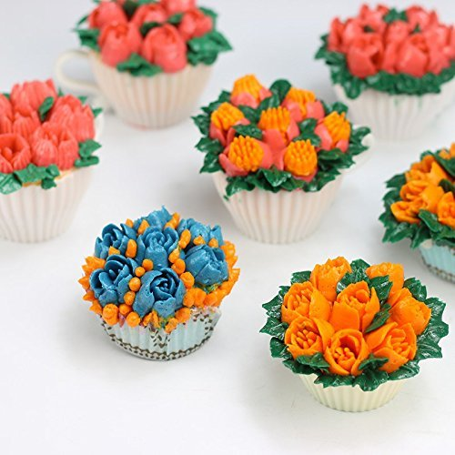 Russian piping tips 12 piece cake baking for Decorate with flowers amazon