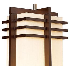 Possini Euro Design Deco Style Walnut Column Floor Lamp Tiffany Style Lamps Amazon Com