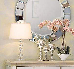 herminie stacked ball acrylic table lamp glass lamp. Black Bedroom Furniture Sets. Home Design Ideas