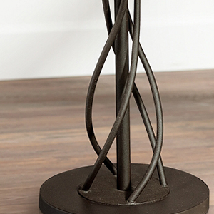 iron twist base wood tray table floor lamp. Black Bedroom Furniture Sets. Home Design Ideas
