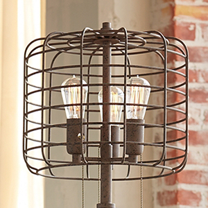 Industrial Cage 65 Quot High Metal Floor Lamp With Edison Bulbs Industrial Lighting Amazon Com