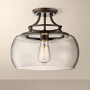 Awesome At Home In Rustic, Urban And Industrial Styles, This Ceiling Light Features  A Clear Glass Bowl Shade ...
